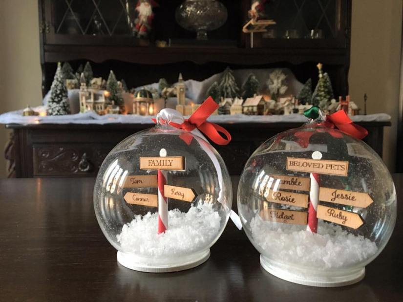 Customised North Pole Baubles