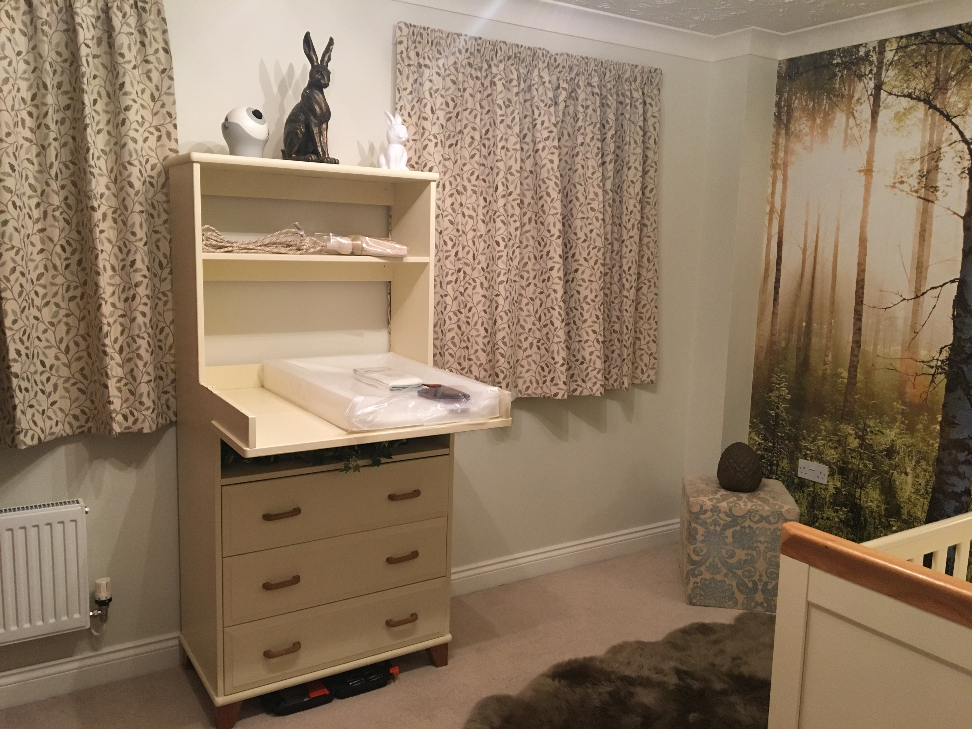 Customised 12 year old IKEA Changing table