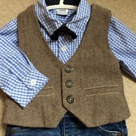 Used Mamas & Papas Herringbone Waistcoat