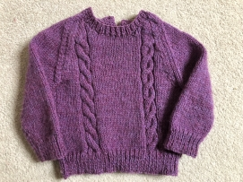 Handmade Cable Knit Aubergine Jumper