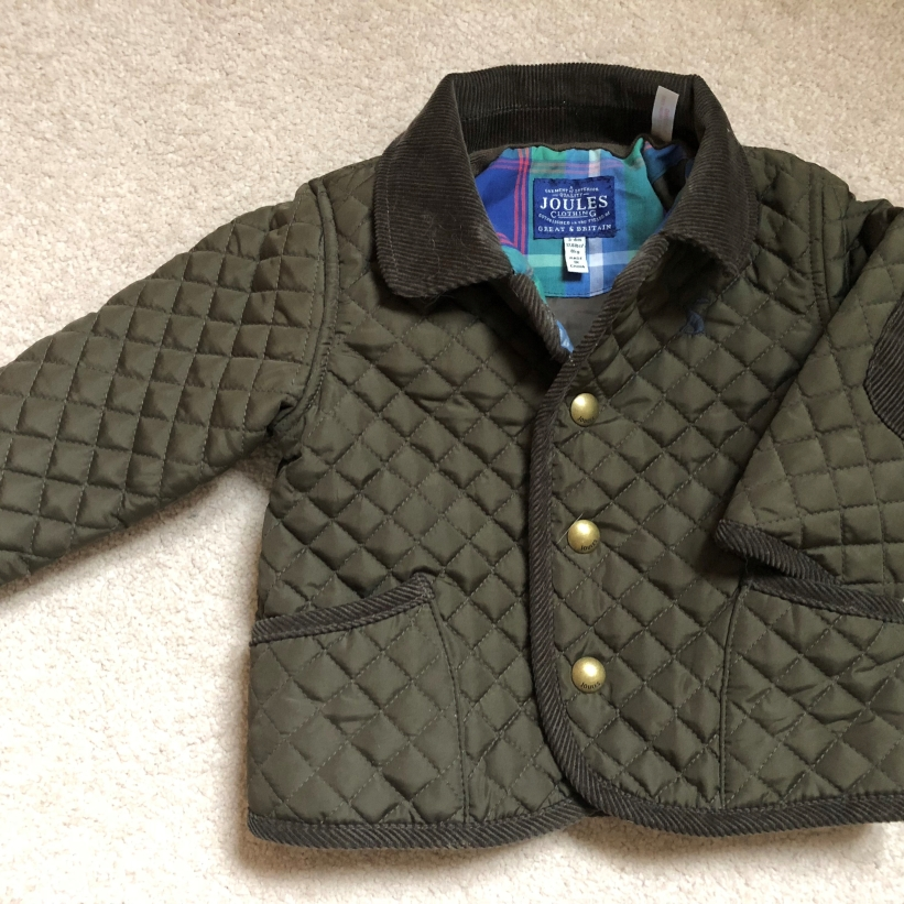 Joules Quilted Green Coat